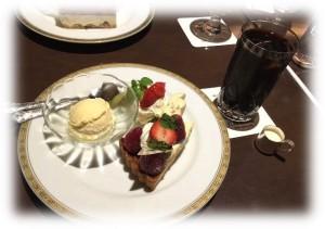 丸福イチゴのタルトケーキプレート