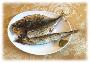 マイユクール2016.3朝ごはん焼き魚